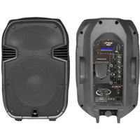 Pyle Pro PylePro Pphp127ai 1200W Powered 2-Way Full Range PA Speaker with Built-in iPod Dock