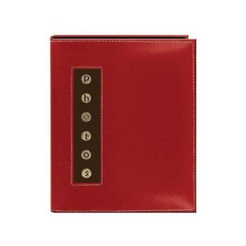 Pioneer Photo Album - 36 Capacity - 6 x 4 - Stitched - Non-refillable - Red Leatherette Cover