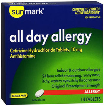 Sunmark All Day Allergy, 10 mg, 14 tabs by Sunmark
