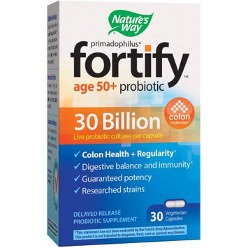 Schwabe North America Nature's Way Primadophilus Fortify Age 50+ Delayed Release Probiotic Supplement, 30 count