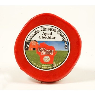 Aged Cheddar Cheese Wax Round Wisconsin Cheddar Cheese - 1 lb. Round, Aged Cheddar