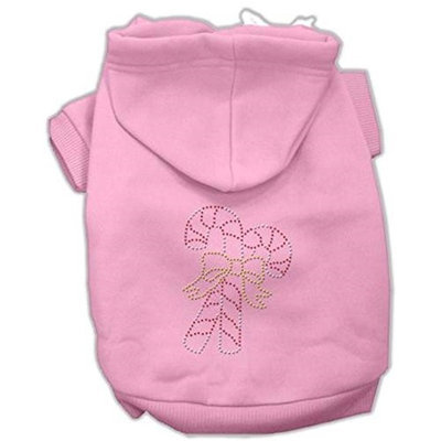 Mirage Pet Products 542503 SMPK Candy Cane Hoodies Pink S 10