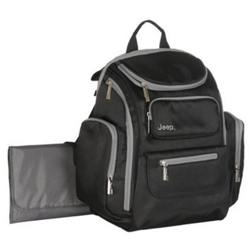 Organizer Easy Access Back Pack Diaper Bag - Black by Jeep