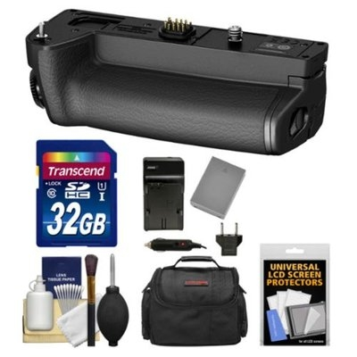Olympus HLD-7 Power Battery Holder Grip for OM-D E-M1 Digital Camera with 32GB Card + Case + BLN-1 Battery & Charger + Kit