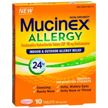 Mucinex Allergy 24 Hour Indoor & Outdoor Allergy Relief Tablets