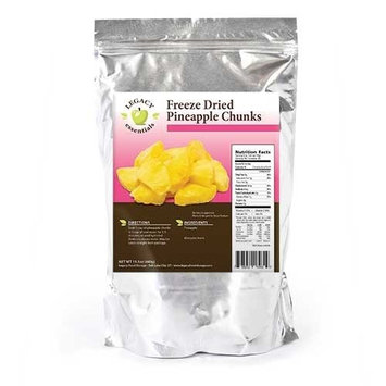 Legacy Premium Food Storage Bulk Freeze Dried Pineapple - Legacy Essentials Emergency Food Storage