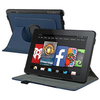 Insten INSTEN Navy Blue Leather Flip Stand Case Cover For Amazon Kindle Fire HD 7