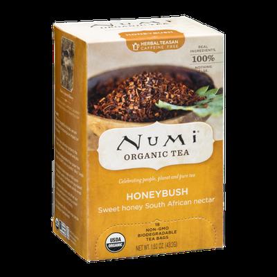 Numi Organic Caffeine Free Tea Bags Honeybush - 18 CT
