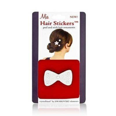 Mia Hair Stickers - Large Model No. 04803 - Silver Bow