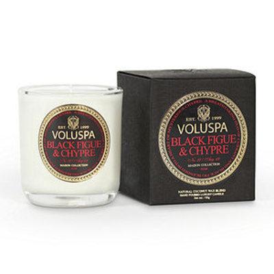 Voluspa Classic Boxed Votive, Black Figue & Chypre, 3 oz