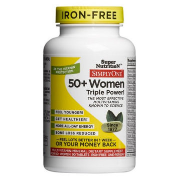 Super Nutrition Simply One 50+ Women Power High Potency Multivitamins