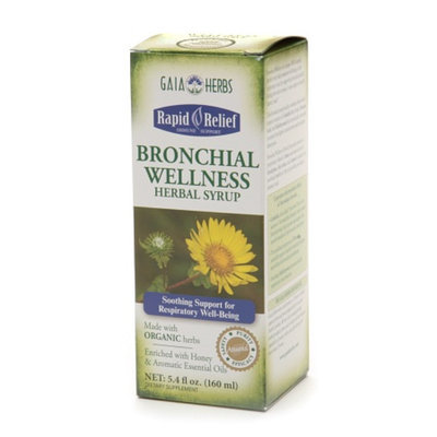 Gaia Herbs Rapid Relief Organic Bronchial Wellness Herbal Syrup