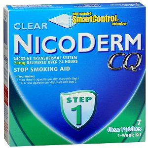 NicoDerm CQ Nicotine Transdermal System Clear Patches