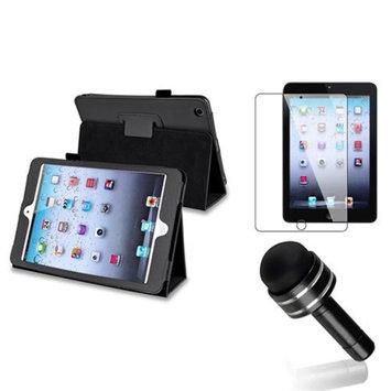 Insten iPad Mini 3/2/1 Case, by INSTEN Black Magnetic Flip Folio Leather Case Cover Stand For iPad Mini 1 2 3 +Pen Protector