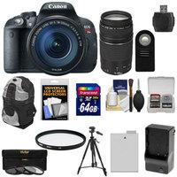 Canon EOS Rebel T5i Digital SLR Camera & EF-S 18-135mm IS STM Lens with EF 75-300mm III Lens + 64GB Card + Battery + Backpack + 3 Filters Kit