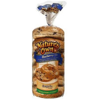 Nature's Own: Blueberry 6 Ct Pre-Sliced Bagels, 22 Oz