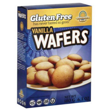 Kinnikinnick Foods Gluten Free Vanilla Wafers, 6.3 oz, (Pack of 6)
