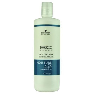 Schwarzkopf BC Bonacure Moisture Kick Shampoo for Normal to Dry Hair 33.8 oz (1 Liter)