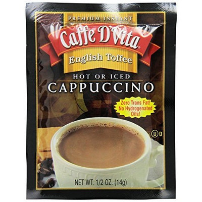 Caffe D'Vita English Toffee Cappuccino,14g Envelopes (Pack of 24)