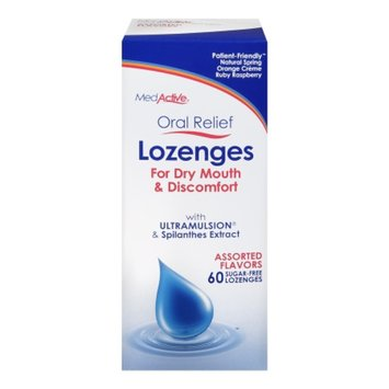 MedActive Oral Relief Lozenges for Dry Mouth Assorted