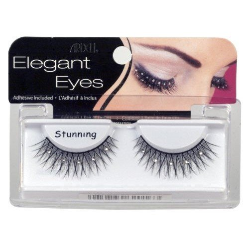 Ardell Elegant Eyes Glittered Lashes Pair, Stunning (Pack of 3)