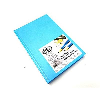 Royal & Langnickel Sky Blue A4 Sketchbook Cartridge Drawing Paper Artist Sketch Book Pad Casebound 110gsm 220 Pages (21.6cm x 27.9cm)
