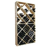 Wine Cellar Innovation Country Pine Series 208-Bottle Solid Bin Wine Rack