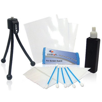 Zeikos Deluxe Cleaning Kit w/Screen Guard & Table Top Tripod