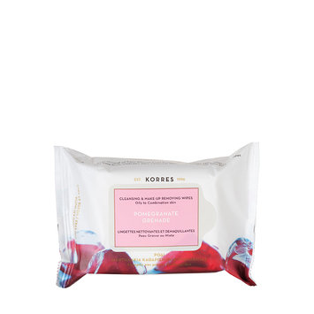 KORRES Pomegranate Cleansing & Make-Up Removing Wipes
