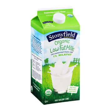 Stonyfield Organic 1% Low Fat Milk