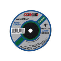 CGW Abrasives Fast Cut - Type 1 Depressed Center Wheels - 4x1/32x3/8 t1 a60-r-bf fast cut 50pcs (Set of 10)