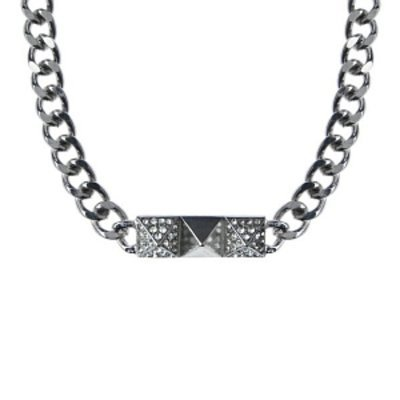 Emitations Marta's Embellished Statement Chain Necklace, Silver, 1 ea