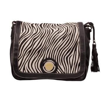 Kalencom Madonna Messenger Bag, Zebra Black/White (Discontinued by Manufacturer)