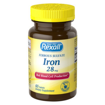 Rexall Ferrous Sulfate Iron 28 mg - Tablets, 60 ct