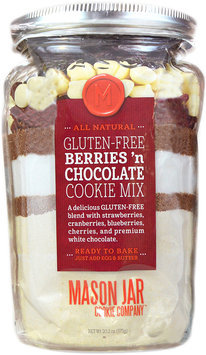 Mason Jar Cookie Company 20.2-oz. Pouch Gluten-Free Berries 'n Chocolate Cookie Mix (White Chocolate)