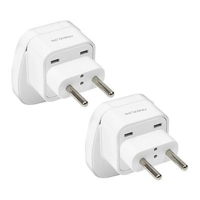 Travelon Europe Adapter NonGrounded White (2-Pack) Europe Adapter Non-Grounded