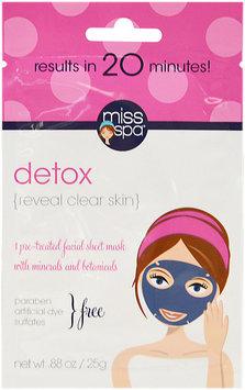 Miss Spa Facial Sheet Mask Detox - 1 Ct