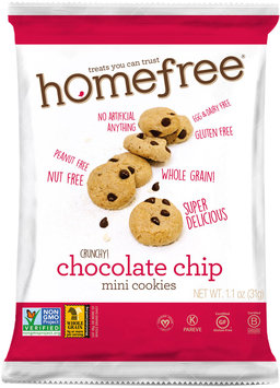 HomeFree Gluten Free Chocolate Chip Mini Cookies (30/1.1 oz bags)