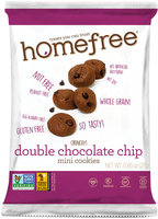 HomeFree Treats Double Chocolate Chip Mini Cookies, 0.95 Oz, Pack Of 30 Bags