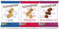HomeFree Gluten Free Mini Cookies Mixed Box, 10 Single Serve Packs in
