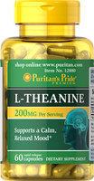 Puritan's Pride 2 Units of L-Theanine 100 mg-60-Capsules