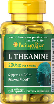 Puritan's Pride 2 Units of L-Theanine 100 mg-60-Capsules