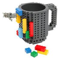 ThinkGeek, Inc. ThinkGeek Build-On Brick Mug - Grey