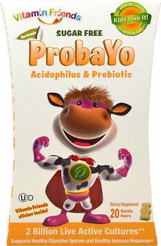 Vitamin Friends Sugar Free ProbaYo Acidophilus and Prebiotic Vanilla 20 Vanilla Yogurt Bears