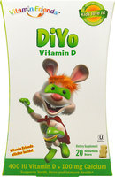 Natural Burst - Vixro DiYo Vitamin D-3 Yogurt Bears Banana Flavor - 40 Yogurt.