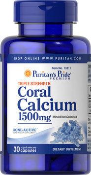 Puritan's Pride Triple Strength Coral Calcium 1500 mg-30 Capsules