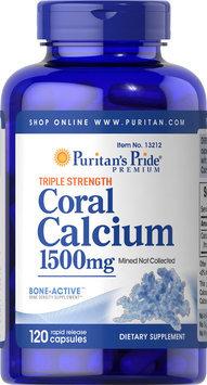 Puritan's Pride Triple Strength Coral Calcium 1500 mg-120 Capsules