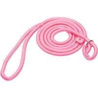 Hamilton Round Quick Pink Braid Dog Collar & Leash Combo, 6' L X 5/16 W