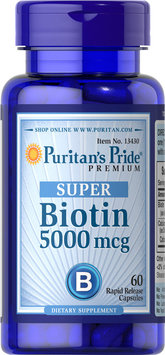 Puritan's Pride 2 Units of Biotin 5000 mcg-60-Capsules
