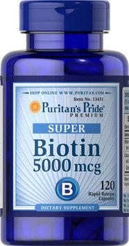 Puritan's Pride 2 Units of Biotin 5000 mcg-120-Capsules
